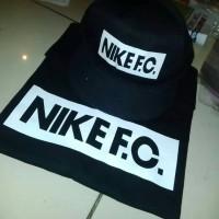 Baju / Kaos Gildan Nike F.C + Topi Nike F.C.