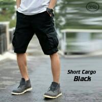 Celana Cargo Pendek Black