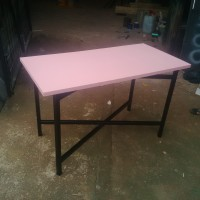 Meja Lipat / Meja Makan / Meja Makan Lipat Pink