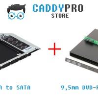 BUNDLE HEMAT 1 : HDD Caddy SATA 9.5mm + DVD/RW External Case 9.5mm