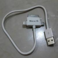 KABEL CHARGER / KABEL POWERBANK Kepala 3 (Micro / Ipad / Iphone4/5 / 6)