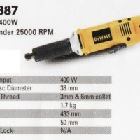 DeWalt DW887 Mesin Gerinda Botol Tuner Besar As 6mm Stright Grinder