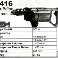 Makita 8416 Mesin Bor Tembok Body Besi Impact Drill Made In Japan