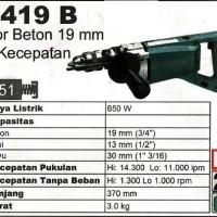 Makita 8419 B Bor Beton Tembok Impact Drill 2 Speed Made In Japan