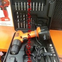 Bor Cordless Black & Decker + Bonus Tools Kits In Box