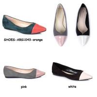 harga Sepatu Flats Heels Lancip Kulit Suede Pointed Shoes Korea Import Ready Tokopedia.com