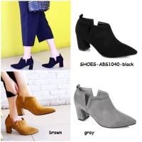 harga Sepatu Pointed Shoes Boots Ankle High Heels Wanita Cewek Korea Import Tokopedia.com