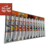 Cat Minyak Maries, Cat Lukis, Oil Colour Painting 12Pcs Tube