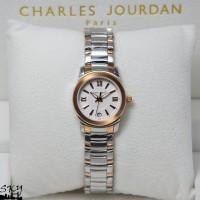 Charles Jourdan 149-26 Solid Steel Silver Rosegold