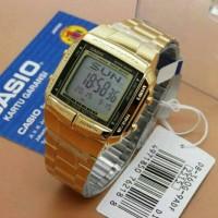 jam tangan casio data bank DB 360 gold original