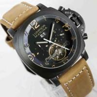 PANERAI Luminor Regatta black brown dial brown leather matic