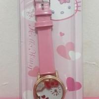 Jam Tangan Kulit 02 - Hello Kitty Pink Muda