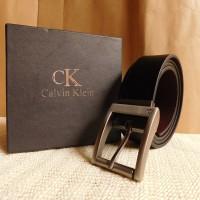 GESPER IKAT PINGGANG KULIT PRIA IMPORT | CALVIN KLEIN CK 07 BLACK