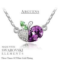 harga Kalung Swarovski Crystal Elements Purple Apple, Lapis Emas Putih Tokopedia.com