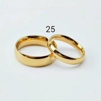 harga cincin couple kuning metalik / cincin titanium Tokopedia.com