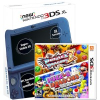 3DS XL Metallic Blue NEW (Asia) + 3DS Game Dragon Puzzle