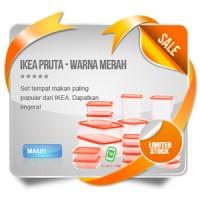 harga IKEA PRUTA - Food Container set of 17 pcs warna MERAH - 2015 Tokopedia.com