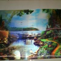 Gambar pemandangan 3 dimensi