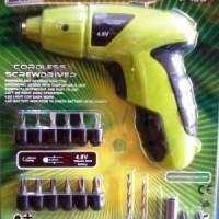 Cordless Screwdriver Prescott (Bor Tangan Pembuka Baut)