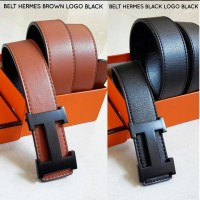 BELT HERMES REVERSIBLE LOGO BLACK SUPER QUALITY IMPORT MURAH BAGUS