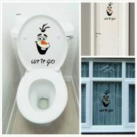 harga Stiker Sticker Toilet Pintu Jendela Kamar mandi Let it Go Frozen Tokopedia.com