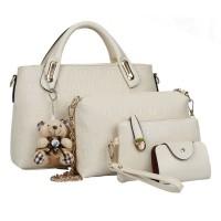harga Tas Putih 4in1 Boneka Cantik Selempang Handbag Korea Jalan Mal Arisan Tokopedia.com