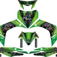 modif stiker yamaha jupiter MX 2006 transformer hijau