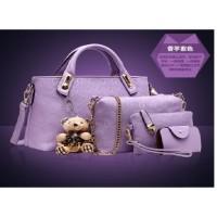 harga Tas Ungu Elegan Wanita Boneka 4in1 Cantik Tote Bags Pergi Kantor Mall Tokopedia.com