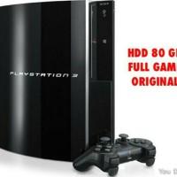 Playstation 3 PS3 Fat/Tebal 4Port HDD 80GB Internal + Stik Wireless