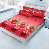 Sprei Kintakun Luxury Cherry Berry 180x200 Tinggi 25cm