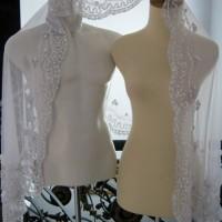 Kerudung akad nikah ijab kobul kebaya pengantin wedding Veil putih