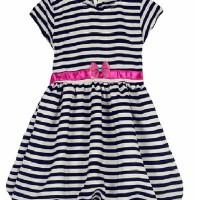 Chloe's Clozette Dress Anak- DA-03- Putih Hitam Garis