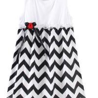 Chloe's Clozette Dress Anak- DA-02- Putih Hitam