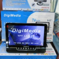 "Portable LCD TV 9.5"" with Multimedia Player (Rechargable)"