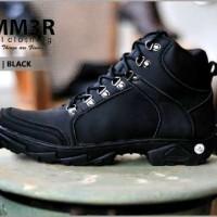 Sepatu Boots Hummer Husky Full Black