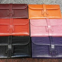 Dompet clutch Hermes import bahan croco