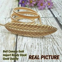 Belt Ikat Pinggang Plat Gold Leaf Daun Cemara BKK Bangkok