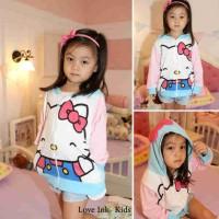JKKD81 - Jaket Anak Hello Kitty Pink Blue Apk Kuping