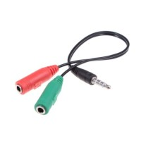 Cable Converter Jack 3.5mm To Dual Jack 3.5mm Female From Headset PC