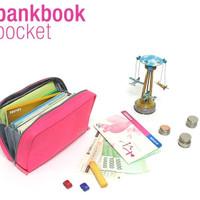 bank book dompet organizer buku tabungan uang kertas logam - hhm075