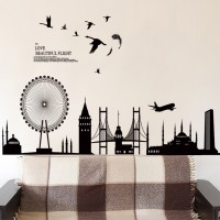 wall sticker/wall stiker trans 60x90-JM7279-BLACK CITY DROP
