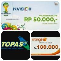 Voucher K-Vision, Topas TV, Orange TV, Skynindo, Big TV