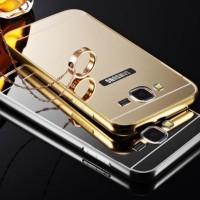 Samsung Galaxy E7 Mirror Metal Bumper Back Cover Case