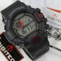 Jam Tangan ORIGINAL DIGITEC GW9400 / DIGITECH WATCH / BLACKRED Colour