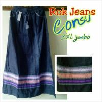 harga rok Jeans denim motif pita renda Tokopedia.com
