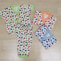 harga Setelan Baju Tidur Bayi Pon Pon Green - Size 0-3 Tokopedia.com