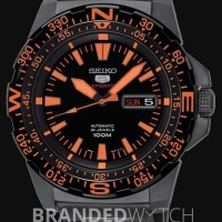 Seiko 5 SRP547K1 Sports Mini Monster Black Orange