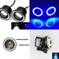 Foglamp Led + Angel Eyes 89mm / 3,5 Inch