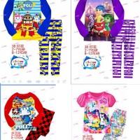 Ailubee Pajamas Piyama Sz 2-7t Robocar Pony Inside Out