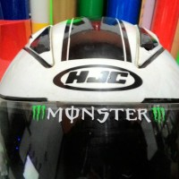 Sticker Cutting Monster Energy visor helm helmet